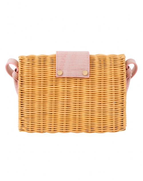 Pamela Munson - Caroline Carnation Pink Rattan Crossbody Bag