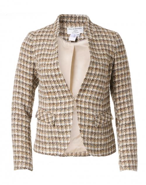 Helene Berman - Beige and Blue Tweed Jacket