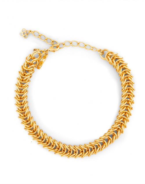 Oscar de la Renta - Gold Braided Chain Necklace
