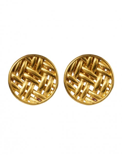 Dean Davidson - Lontar Gold Weave Stud Earring