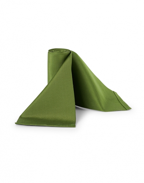 Sara Roka - Green Wide Satin Ribbed Belt