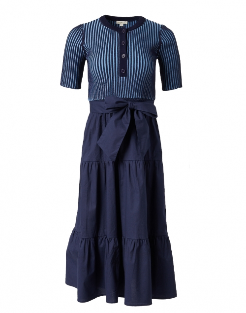 Shoshanna - Catrina Navy Woven Knit Dress