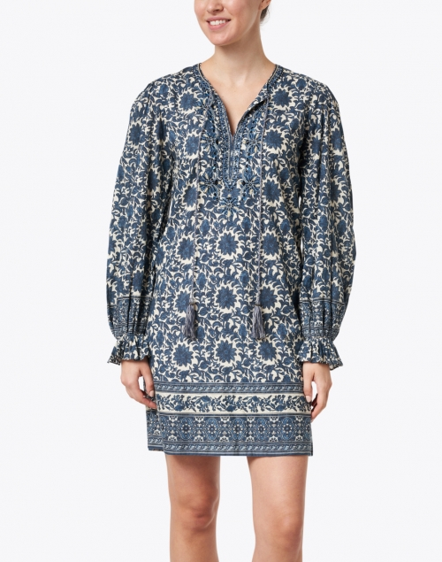 Bella Tu - Agnes Navy Floral Printed Cotton Dress