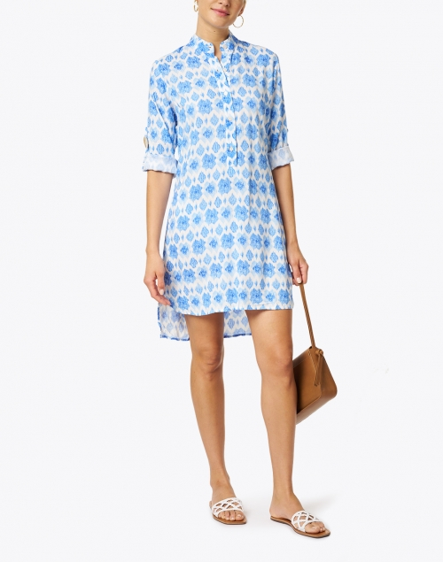 Walker & Wade - Day Tripper Periwinkle Diamond Print Shirt Dress
