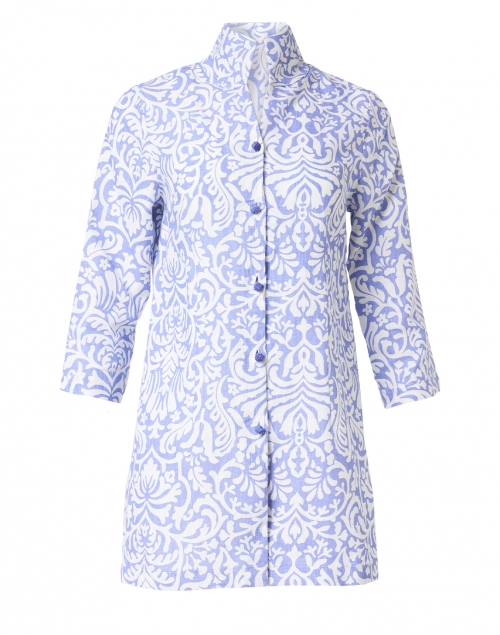 Connie Roberson Rita Lavender Floral Linen Jacket