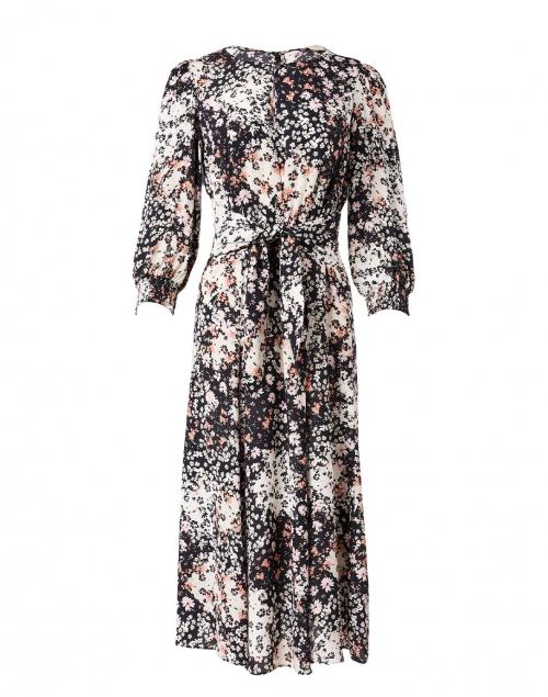 Shoshanna Emmory Pink and Black Floral Satin Dress