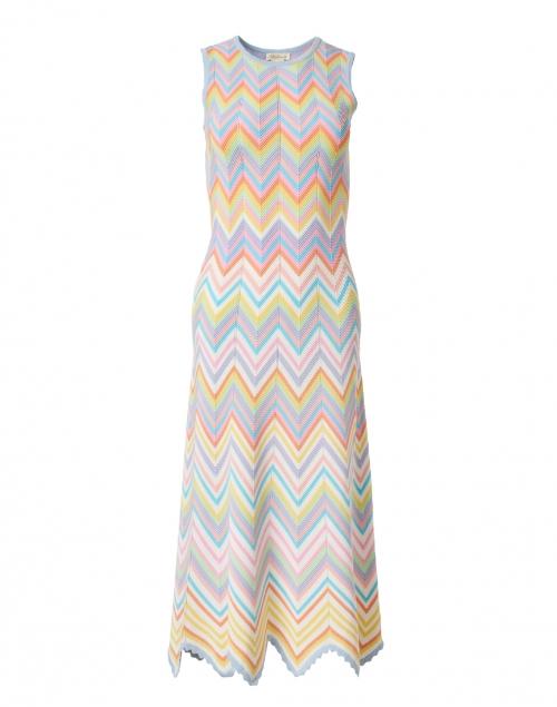 Shoshanna Leia Multicolored Chevron Knit Dress