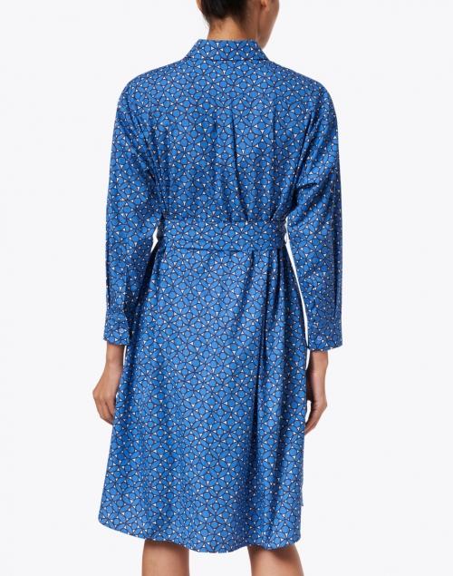 Weekend Max Mara - Girino Blue Petal Print Cotton Shirt Dress