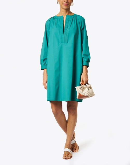 Seventy - Green Stretch Cotton Poplin Dress