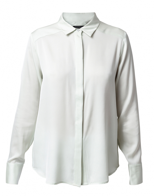 Repeat Cashmere Jade Stretch Silk Button Down Shirt