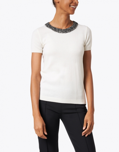 Paule Ka - White Wool and Cashmere Sweater