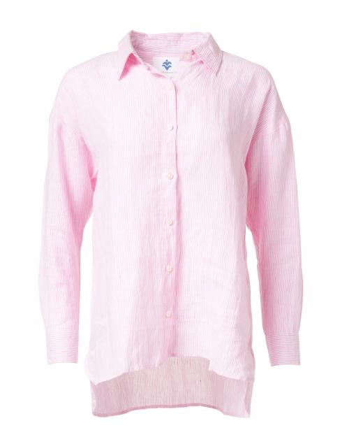 Pomegranate Pink Stripe Cotton Shirt