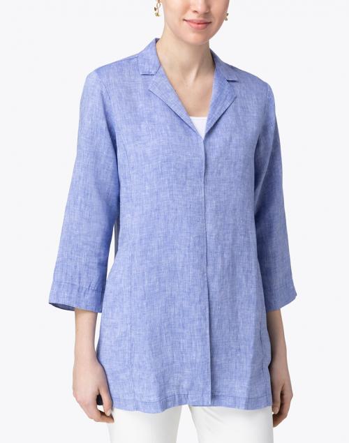 Hinson Wu - Haley Indigo Linen Long Jacket