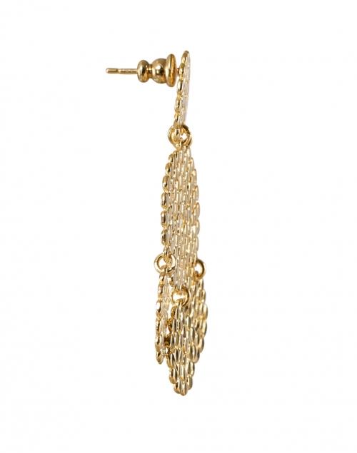 Gas Bijoux - Lucky Sequin Gold Circle Drop Earrings