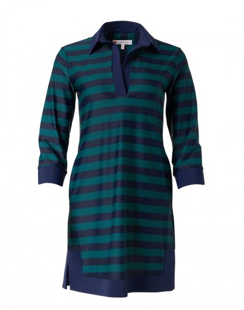 Jude Connally - Finley Navy and Jade Striped Polo Dress