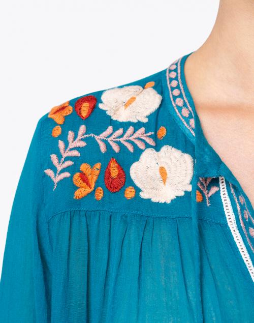 Roller Rabbit - Serafina Floral Embroidered Tassle Top