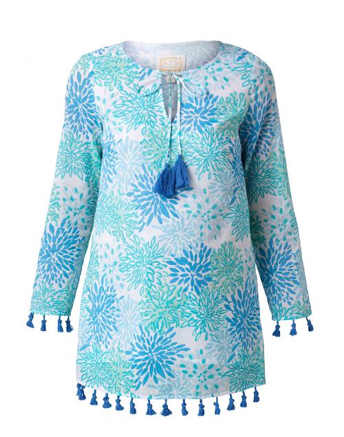 Sail to Sable - Blue Water Hues Coral Print Tunic