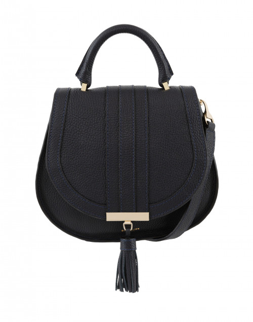 DeMellier - Mini Venice Navy Pebbled Leather Cross-Body Bag