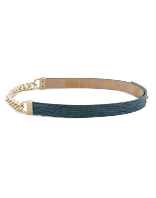 Max Mara - Pazzo Avio Blue Chain and Leather Belt