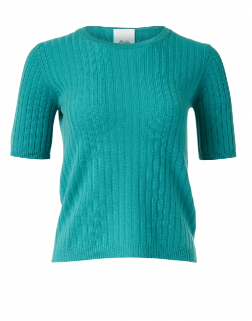 Allude - Jade Green Ribbed Cashmere Sweater