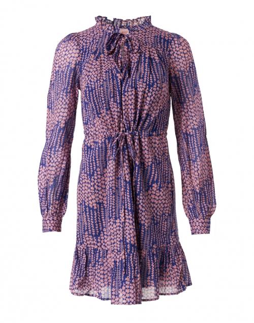 Banjanan Clover Blue and Pink Floral Printed Dress