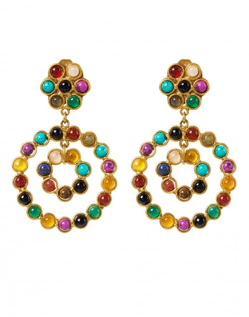 Sylvia Toledano - Flower Candies Multicolored Gemstone Drop Earrings