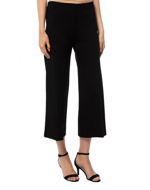 Elliott Lauren - Black Compact Knit Wide Leg Pant