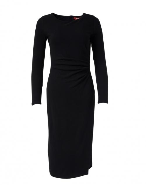 Max Mara Studio - Macario Black Ruched Jersey Dress