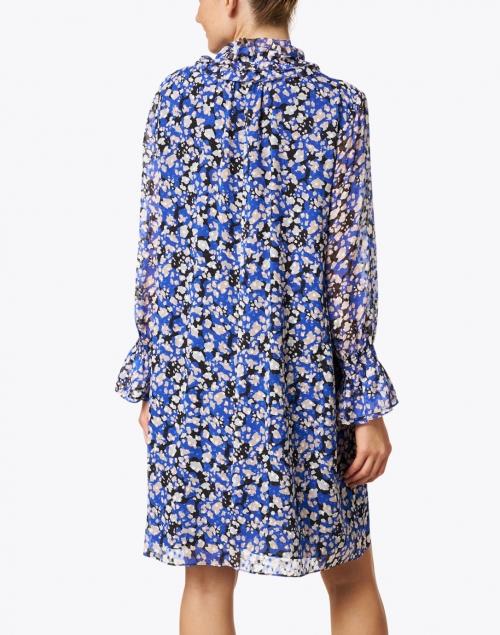 Marc Cain - Blue and Black Multi Printed Silk Dress