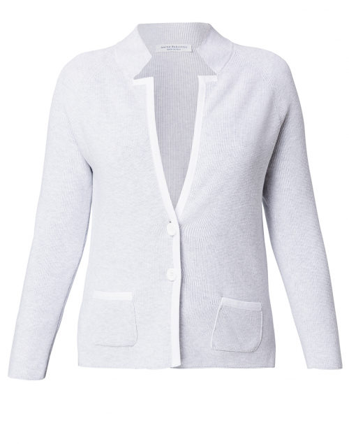 Amina Rubinacci Culto Grey Jacket with White Trim