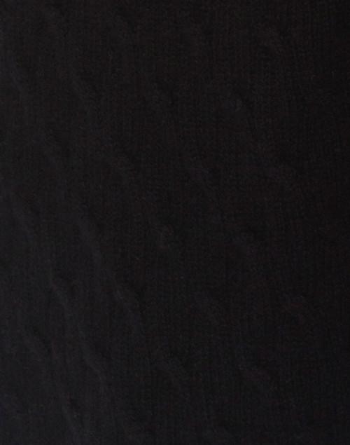 Cortland Park - Sophie Black Cable Knit Cashmere Cardigan