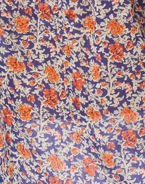 Banjanan - Jennifer Blue and Red Floral Cotton Voile Top
