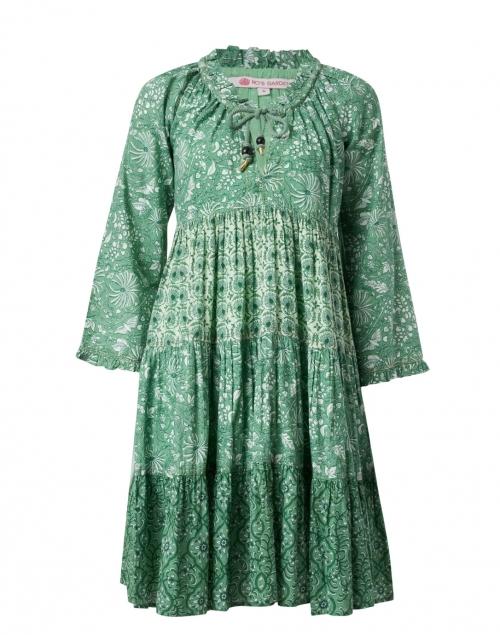 Ro's Garden - Sonia Emerald and White Floral Cotton Dress