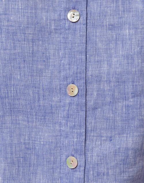 Hinson Wu - Aileen Indigo Button Back Linen Shirt