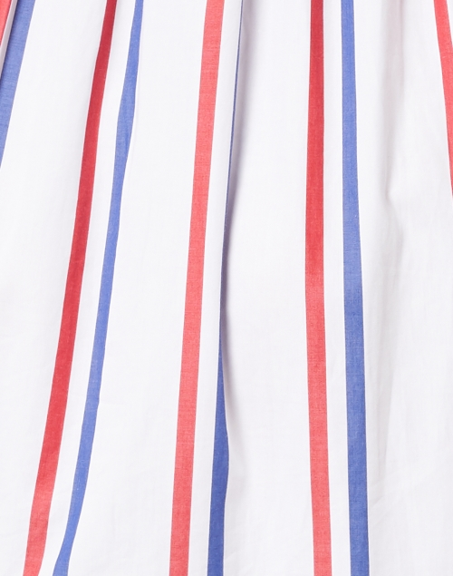 Vilagallo - Tyne White, Red and Navy Striped Cotton Dress