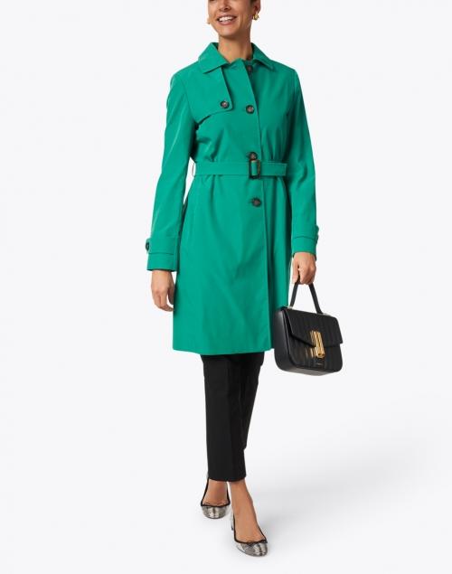 Cinzia Rocca Icons - Green Water Resistant Tech Taffeta Trench Coat