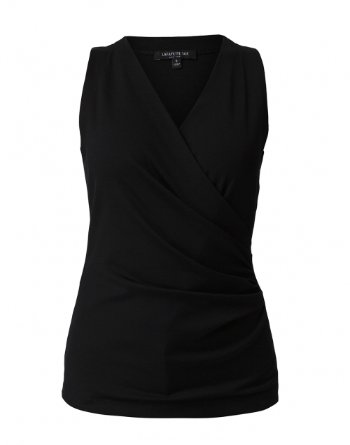 Lafayette 148 New York - Waters Black Cotton Ruched Top