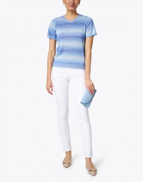 A.P.C. - Jane Blue Lurex Knit Sweater