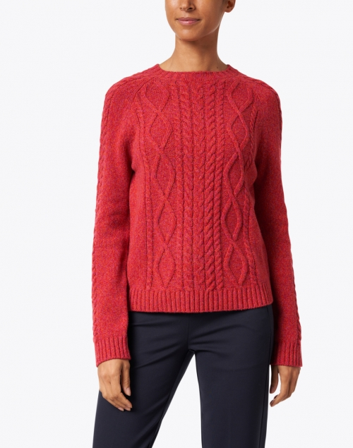 Weekend Max Mara - Monviso Red Cashmere Wool Cable Knit Sweater