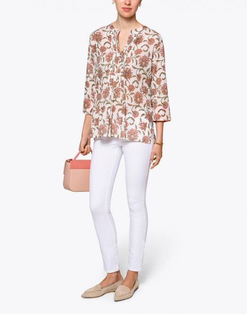 Roller Rabbit - Arles Pink Vine Floral Cotton Shirt