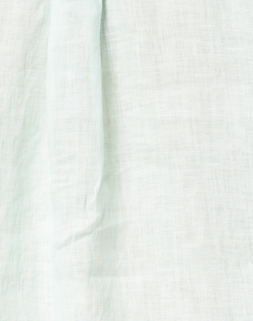 120% Lino - Pacific Green Embellished Linen Shirt