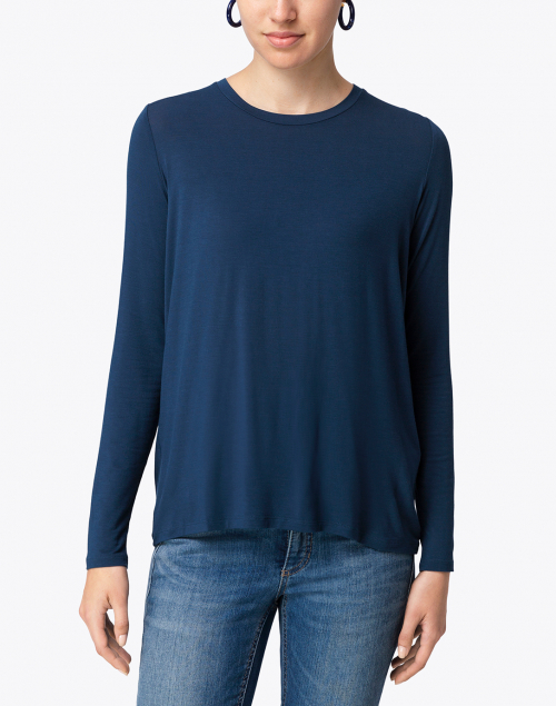 Majestic Filatures - Midnight Blue Top with Back Pleat