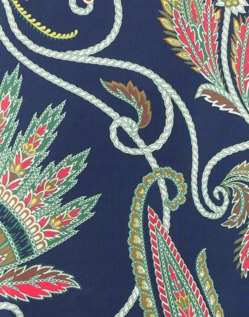 Gretchen Scott - Everywhere Navy Plume Printed Jersey Dress