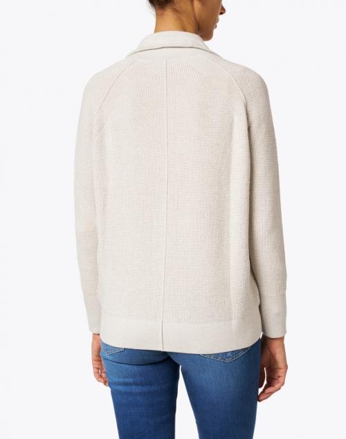 Kinross - Desert Beige Cotton Cashmere Zip-Up Cardigan