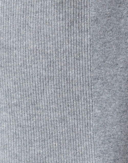 Peserico - Grey Wool Silk Cashmere Knit Dress