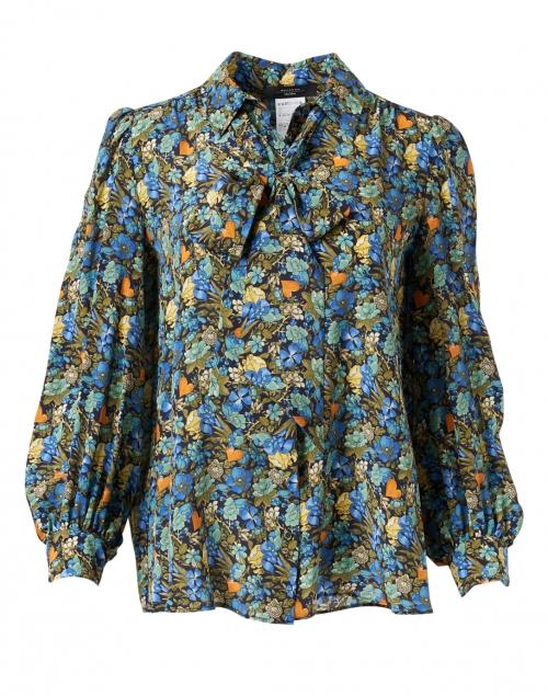 Weekend Max Mara Edda Multi Floral Silk Blouse