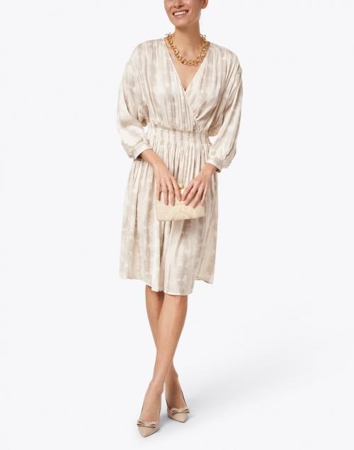 Brochu Walker - Sera Beige Shibori Printed Dress