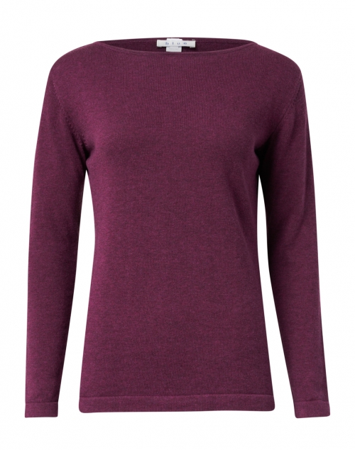 Blue - Bordeaux Pima Cotton Boatneck Sweater