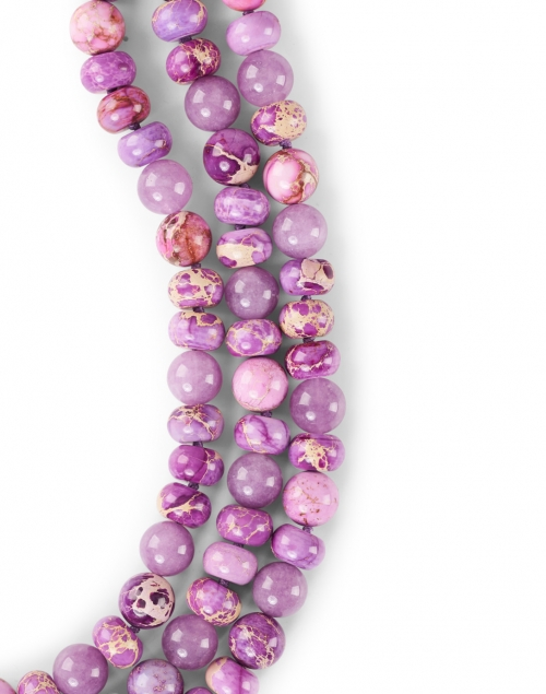 Nest - Lavender Jasper Multistrand Necklace