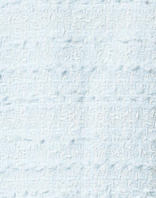 Edward Achour - Pale Blue Lurex Tweed Jacket with Pockets